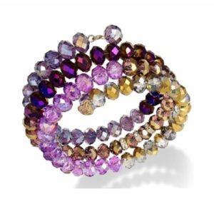 Jewelry - Purple coil bead bracelet